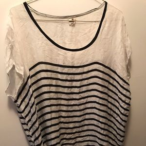 NWT white Black striped top tassels bottom onesize